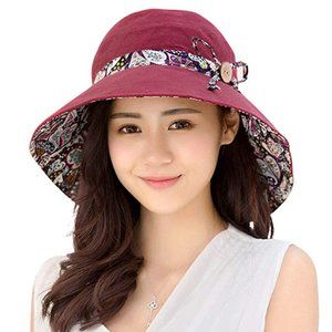 Womens Sun Summer UV Protection Floppy Beach Hat